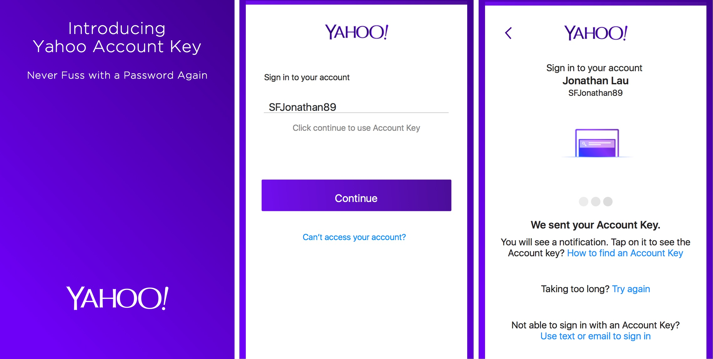 Yahoo Mail 4.0 for iOS Account Key iPhone screenshot 002