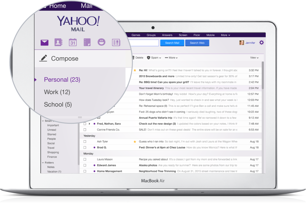 Yahoo Mail 4.0 for iOS Multiple Mailboxes web screenshot 001