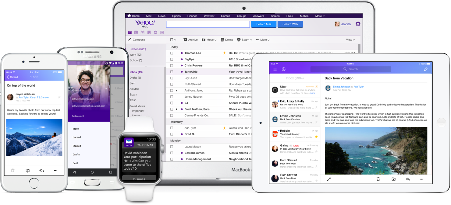 Yahoo Mail 4.0 for iOS all devices