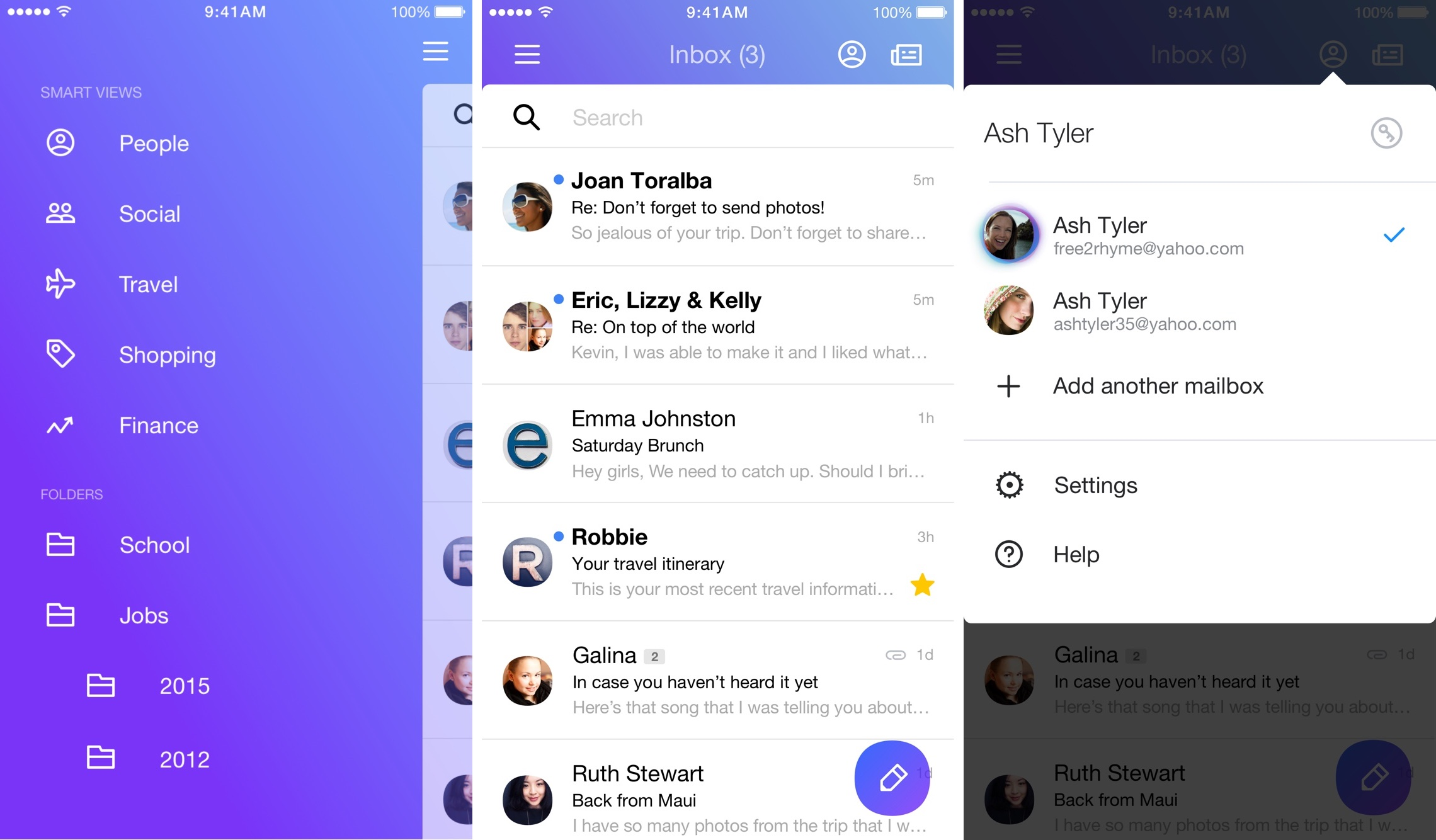 Yahoo Mail 4.0 for iOS iPhone screenshot 002