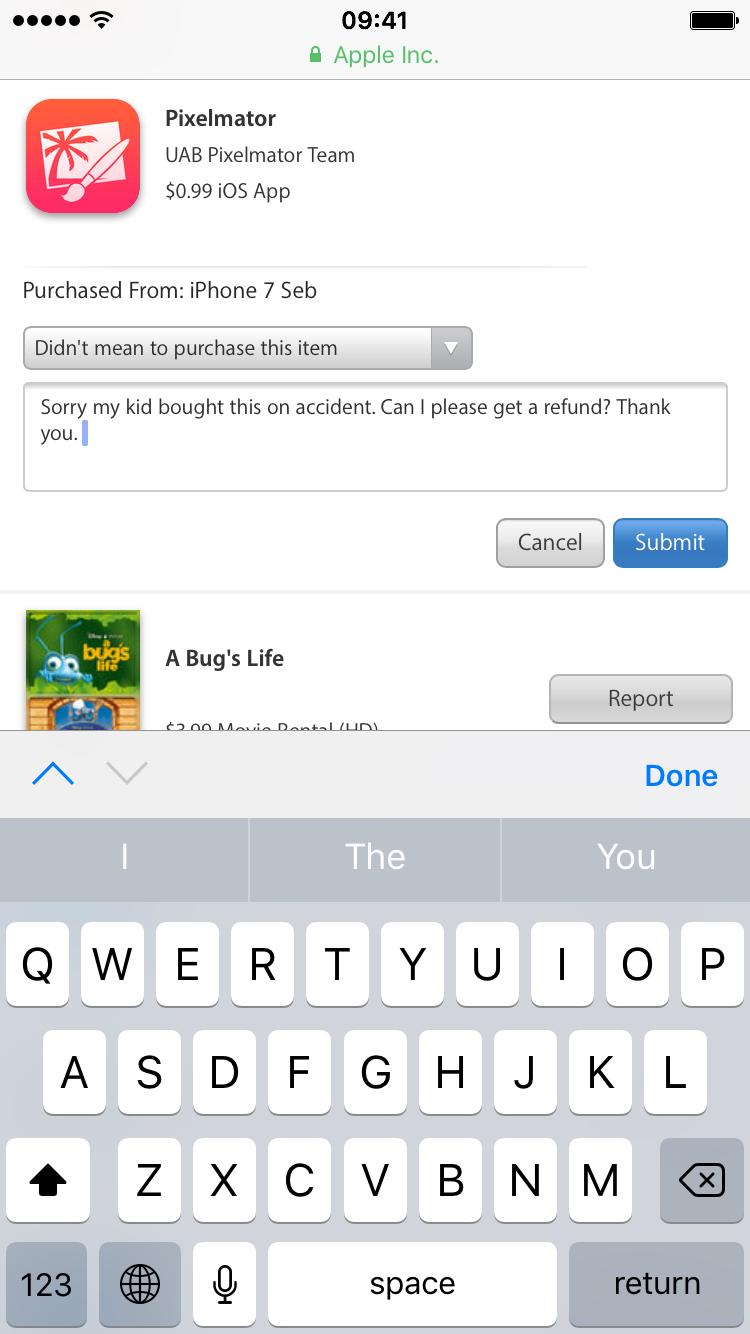 apple app store refund