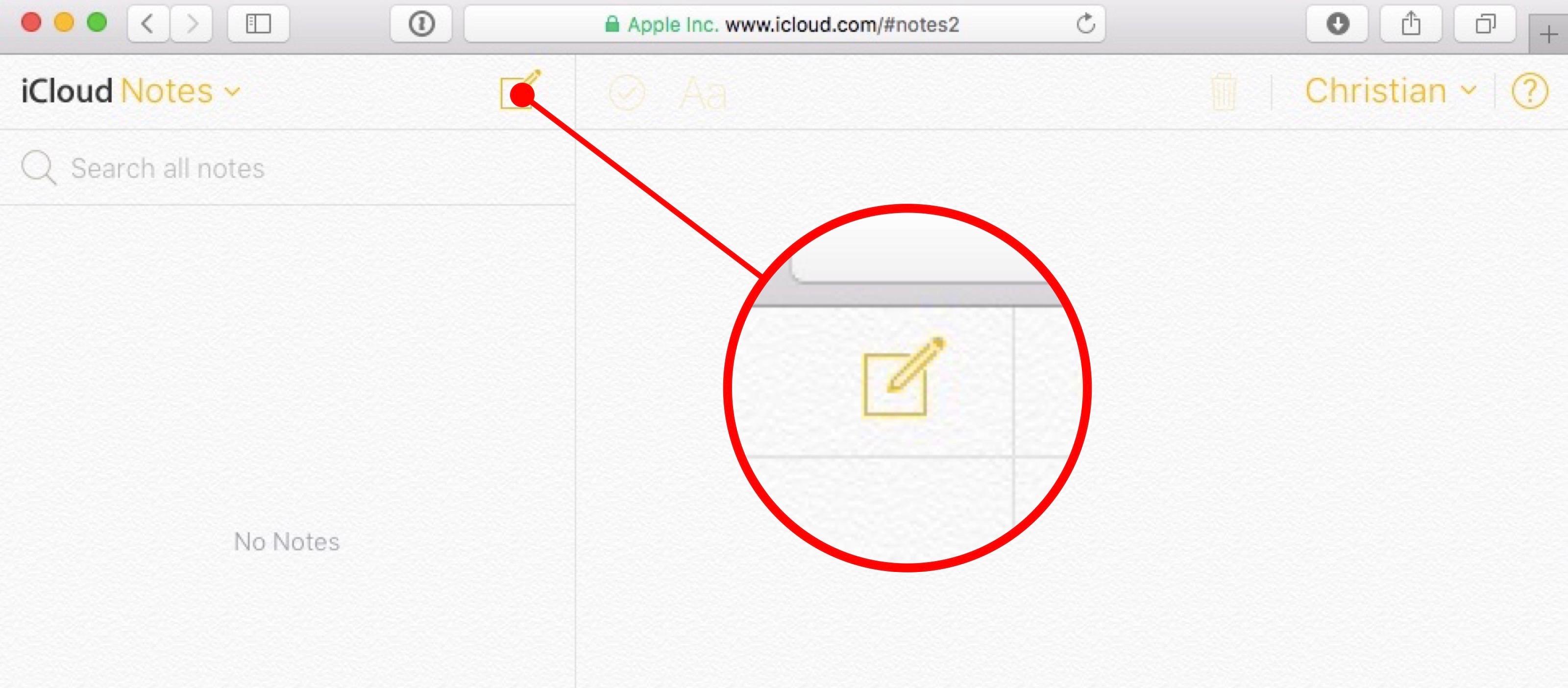 iCloud Notes web screenshot 003