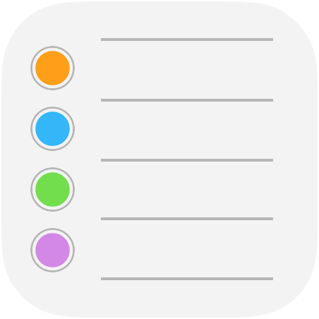 iOS 9 Reminders app icon full size