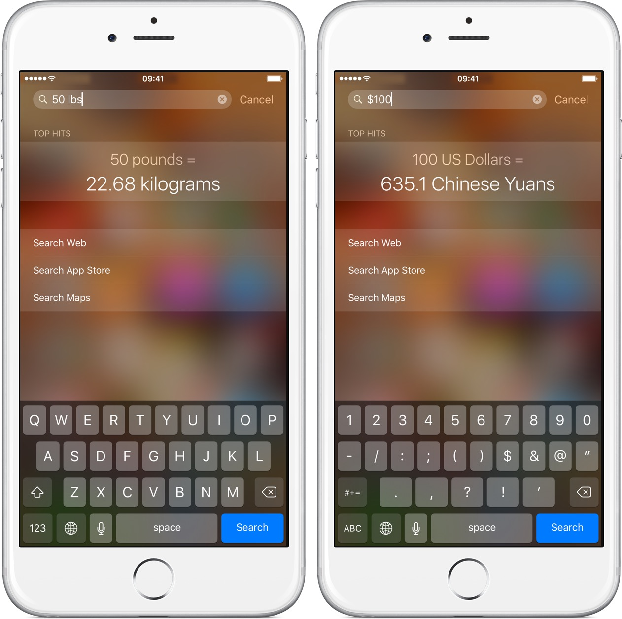 Ios 9 Spotlight Unit And Currency Conversion Iphone Screenshot 002