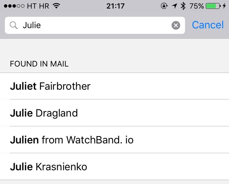 iOS 9 sugirió contactos iPhone captura de pantalla 001
