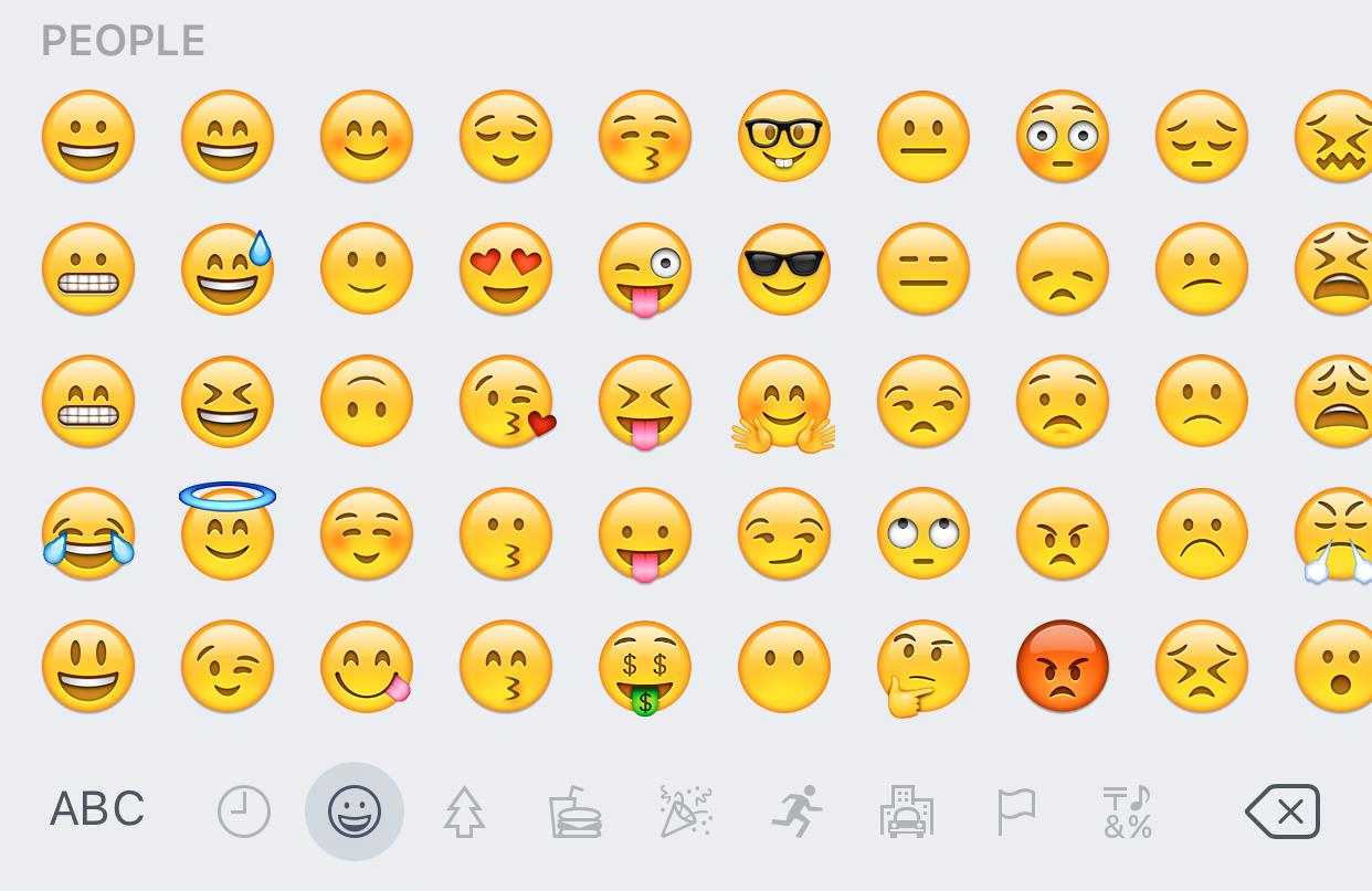 iOS 9.1 Emoji on iOS 9.0.2