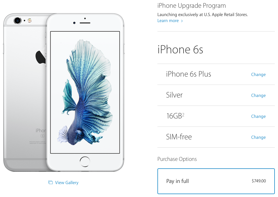 Sim Free Iphone 6s Now Available In