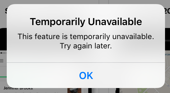 temporarily unavailable