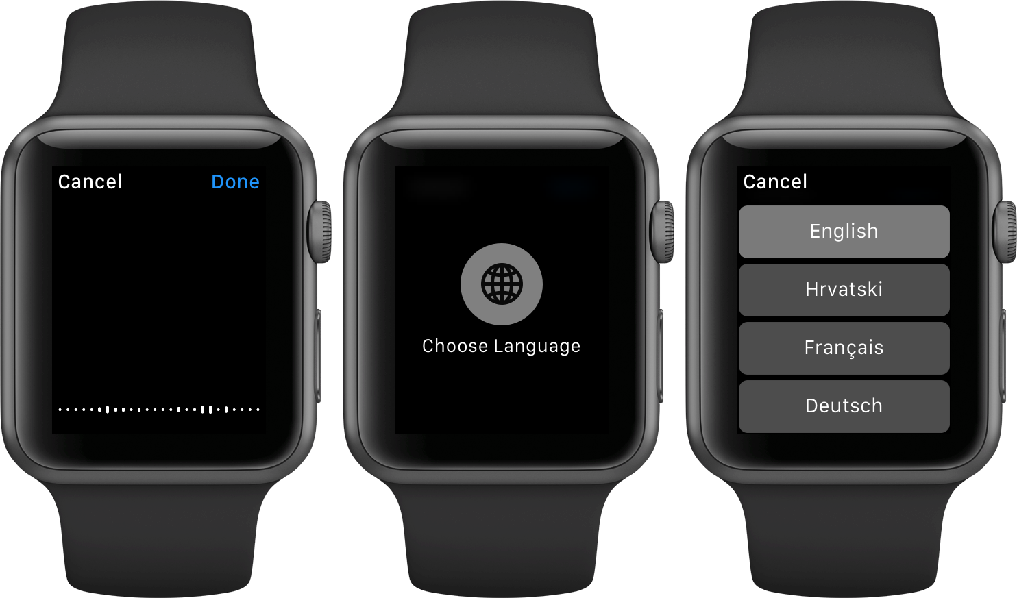 watchOS 2 Dictation language Apple Watch screenshot 002