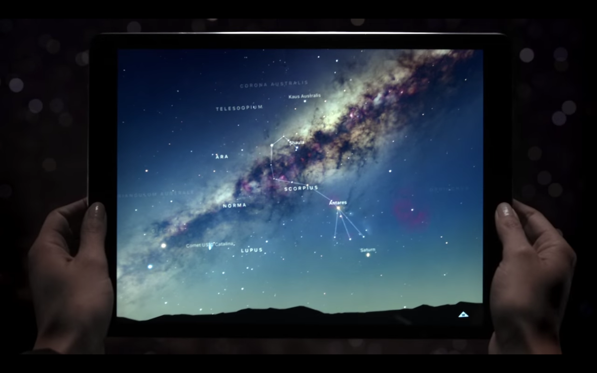 A great big universe iPad Pro