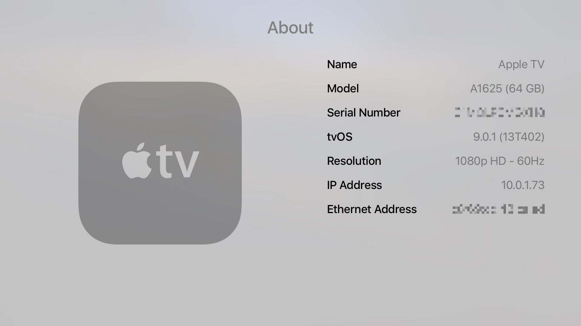 Apple TV 9.0.1 tvOS update