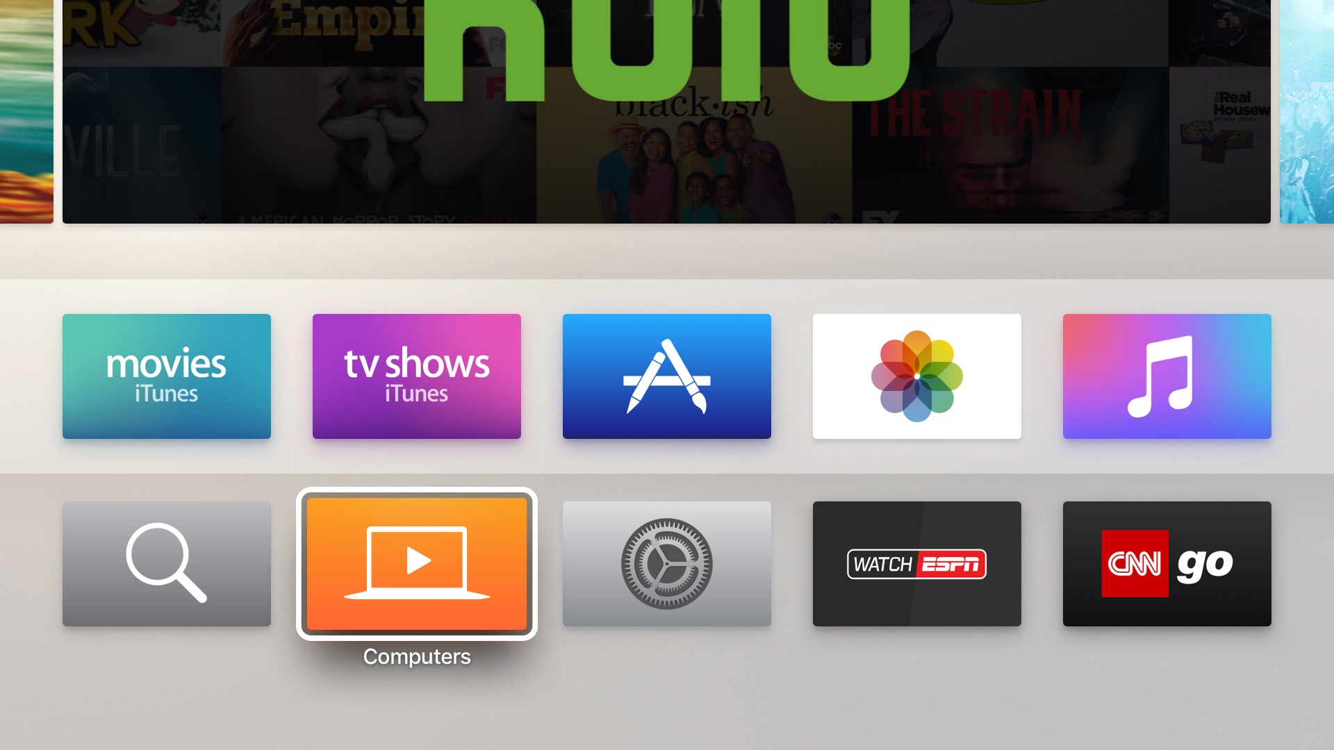 Apple TV fourth generation high contrast cursor screenshot 001