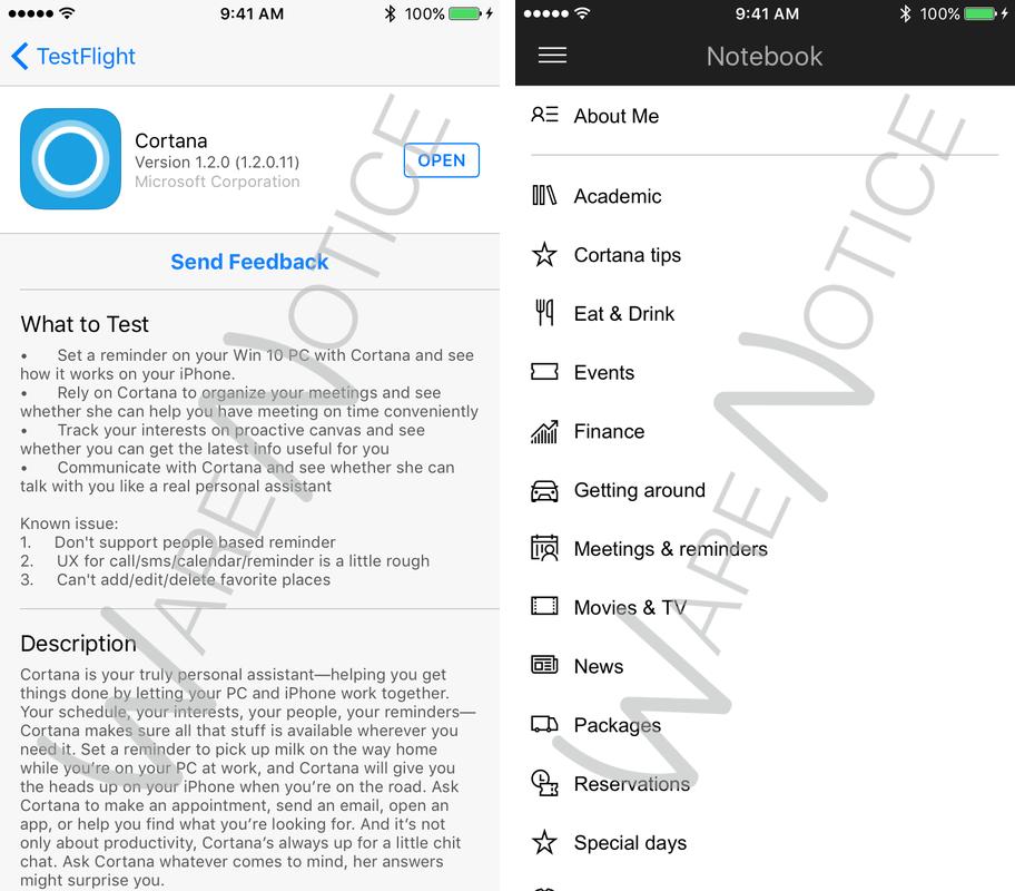 Captura de pantalla de Cortana para iOS iPhone 006