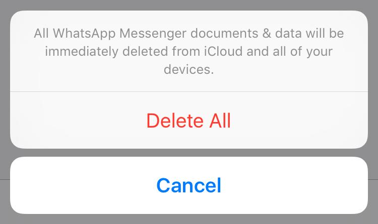 Eliminar documentos y datos de iCloud en iOS