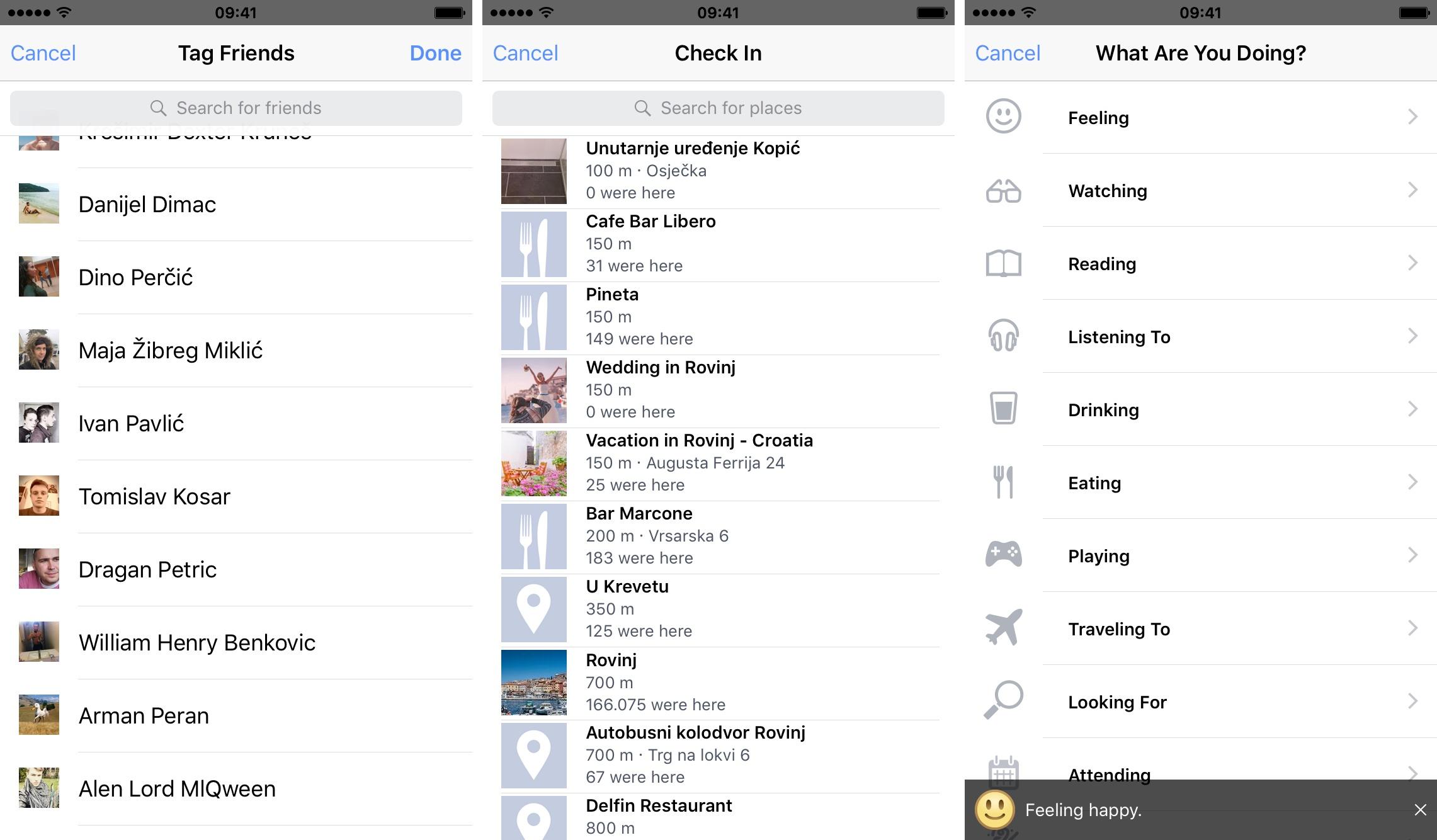 Captura de pantalla 003 del iPhone del nuevo diseño de la hoja de Facebook
