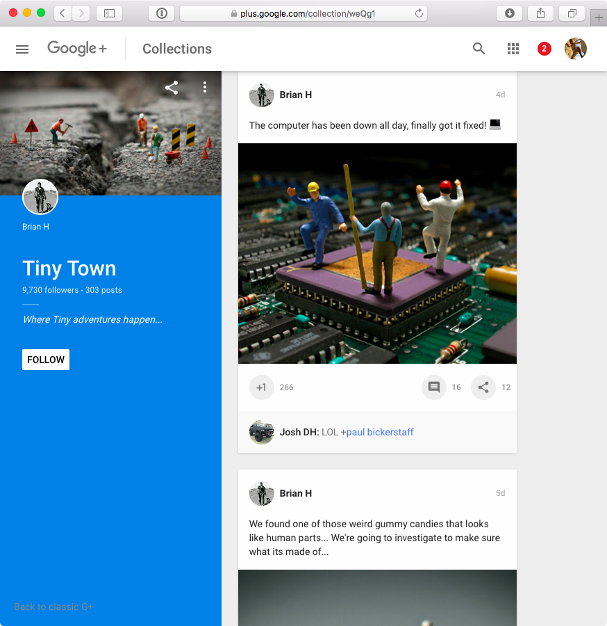 Google Plus redesign web screenshot 002