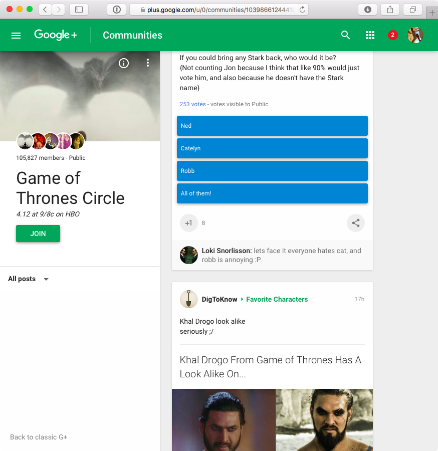 Google Plus redesign web screenshot 003