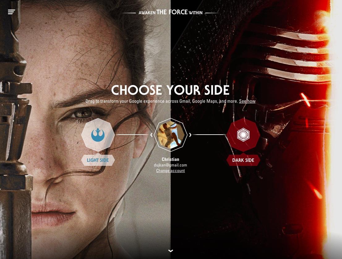 Google Star Wars promotion image 001