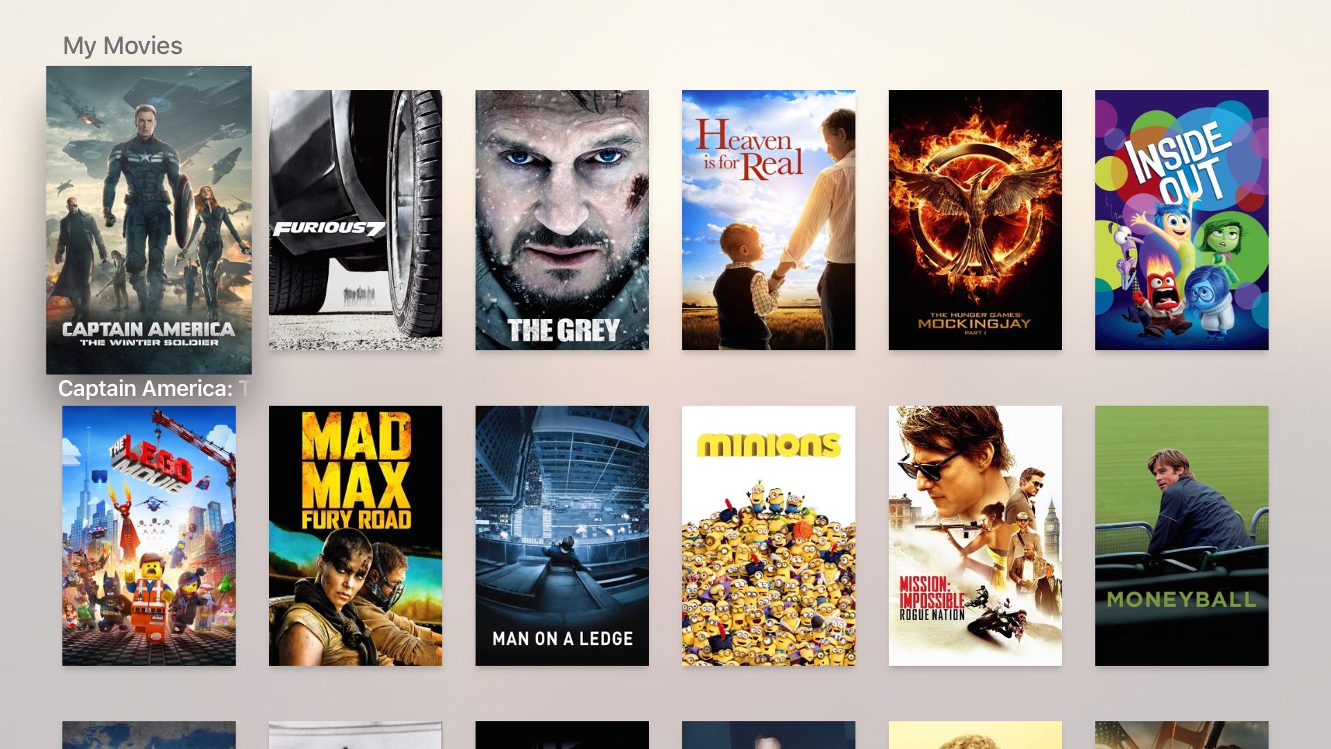 Infuse for tvOS Apple TV captura de pantalla 001