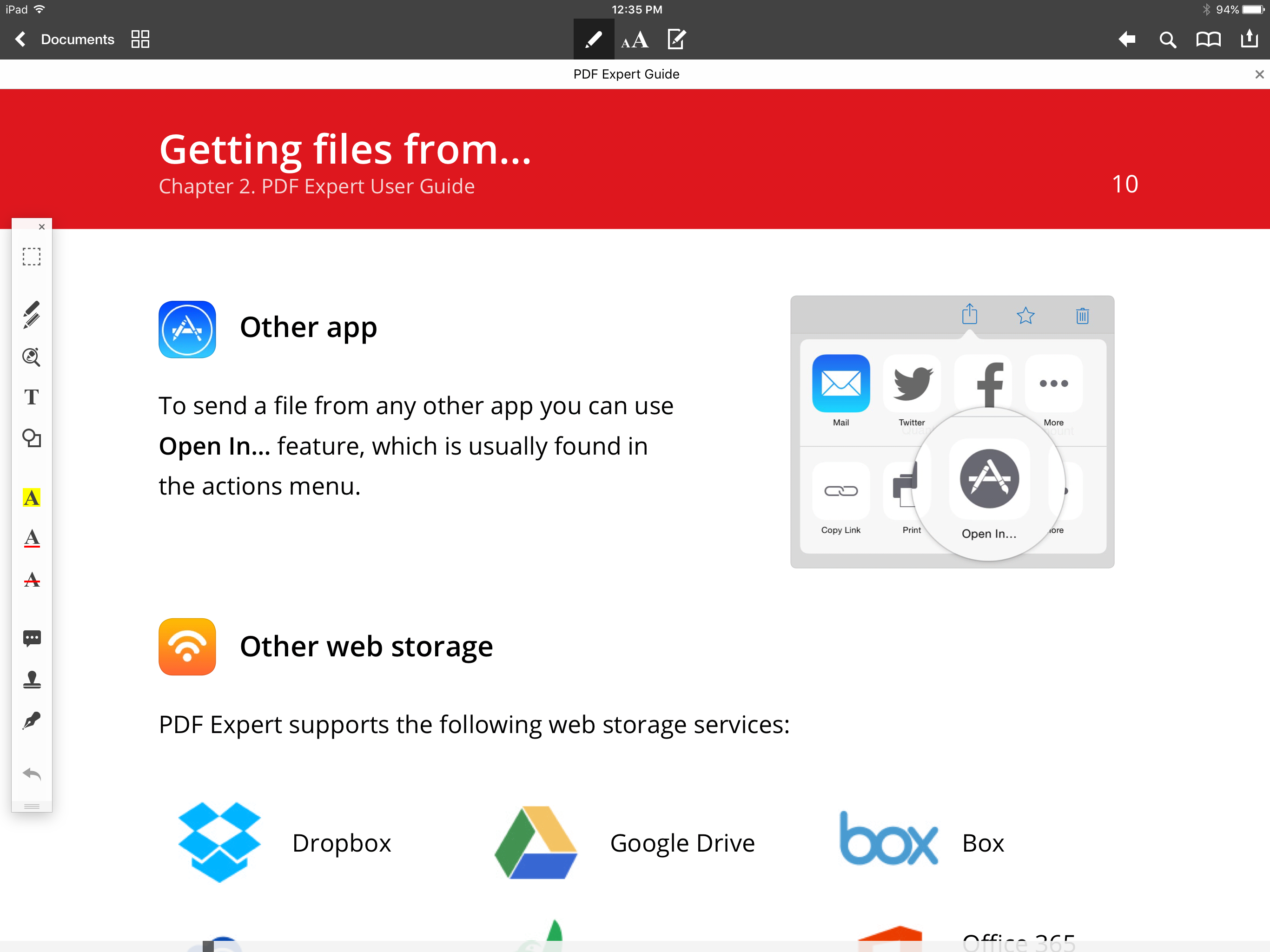 PDF expert iPad pro