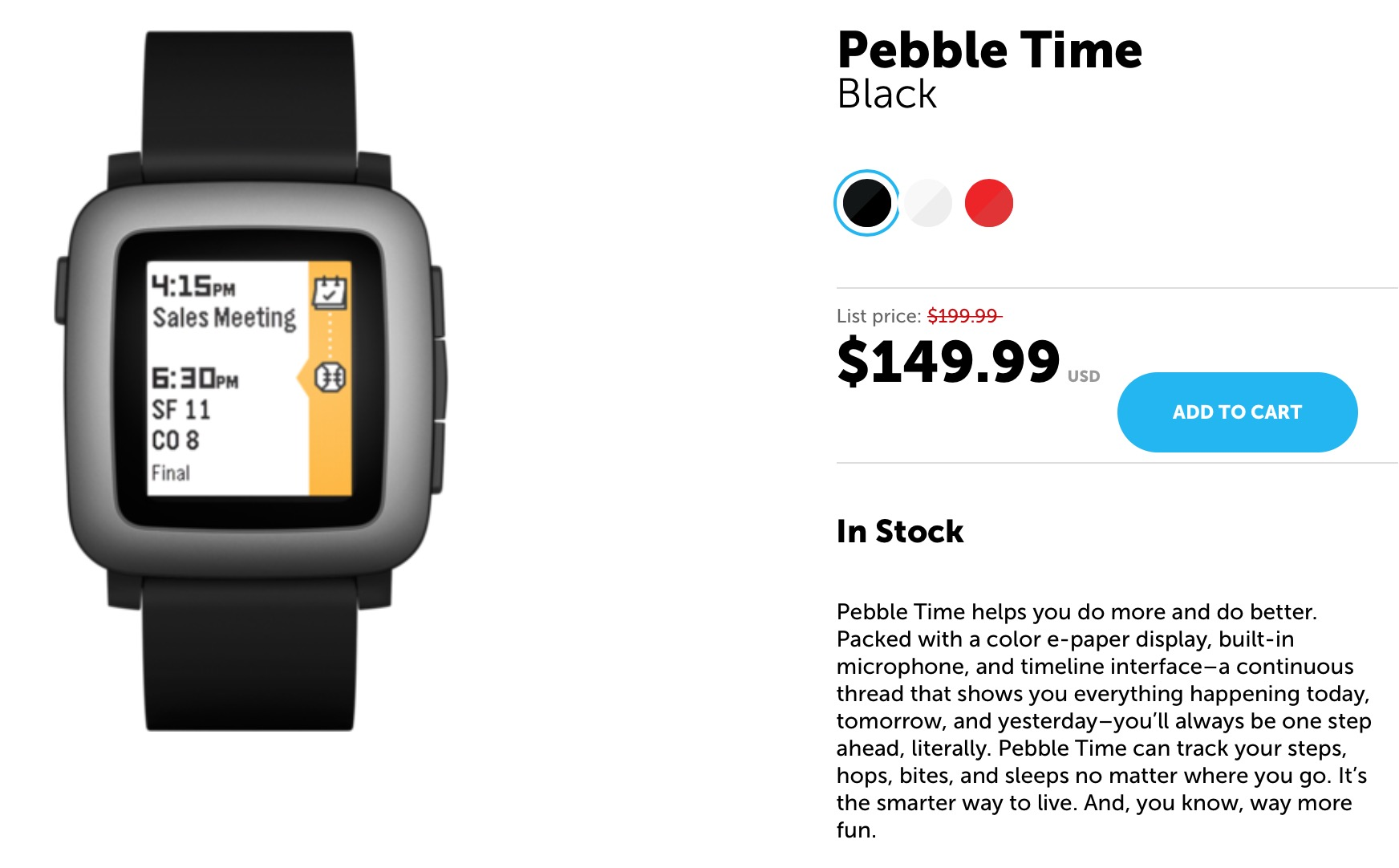 Pebble Time discount
