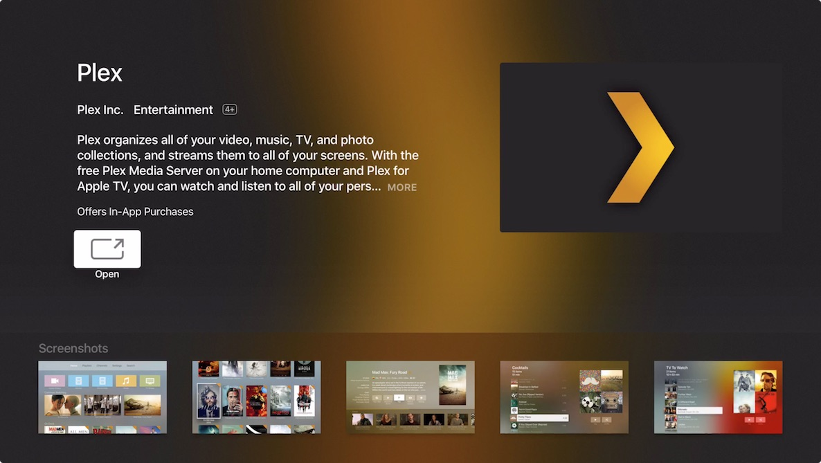 Plex is now available for the Apple TV