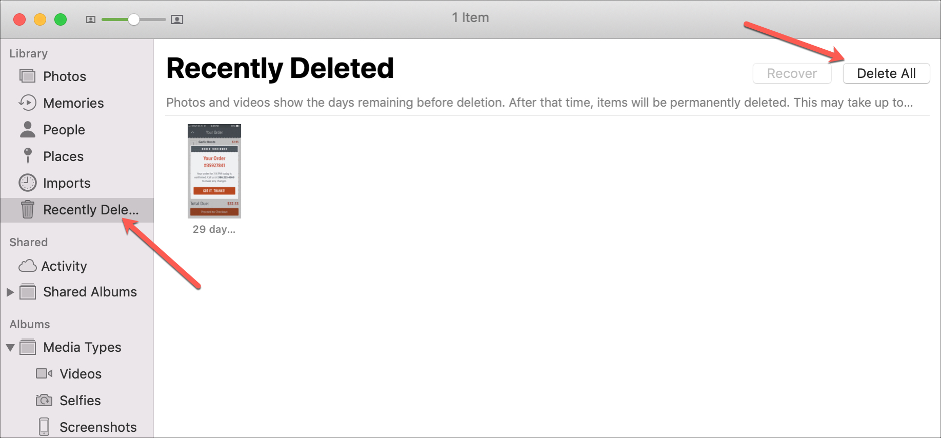 Recently Deleted Photos Delete All Mac