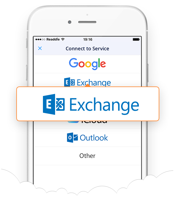 Spark for iPhone Microsoft Exchange support