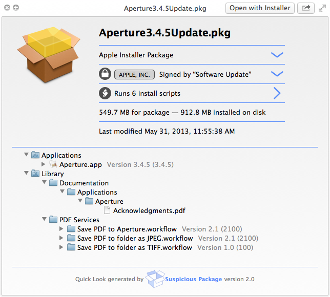 Suspicious Package 1.0 for OS X Mac screenshot 001