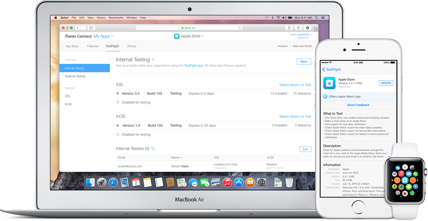 Apple now lets developers invite 2,000 people to beta test