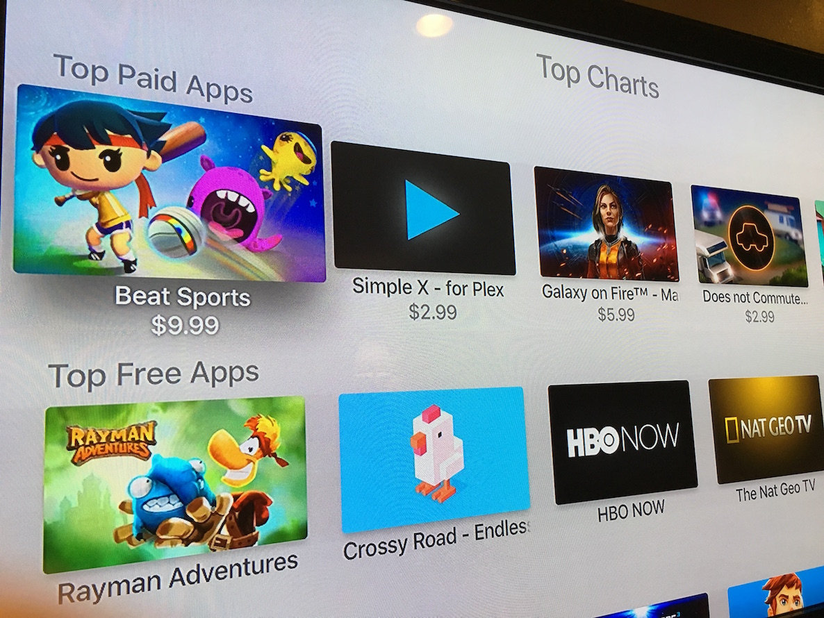 Top Charts Apple TV App Store 1