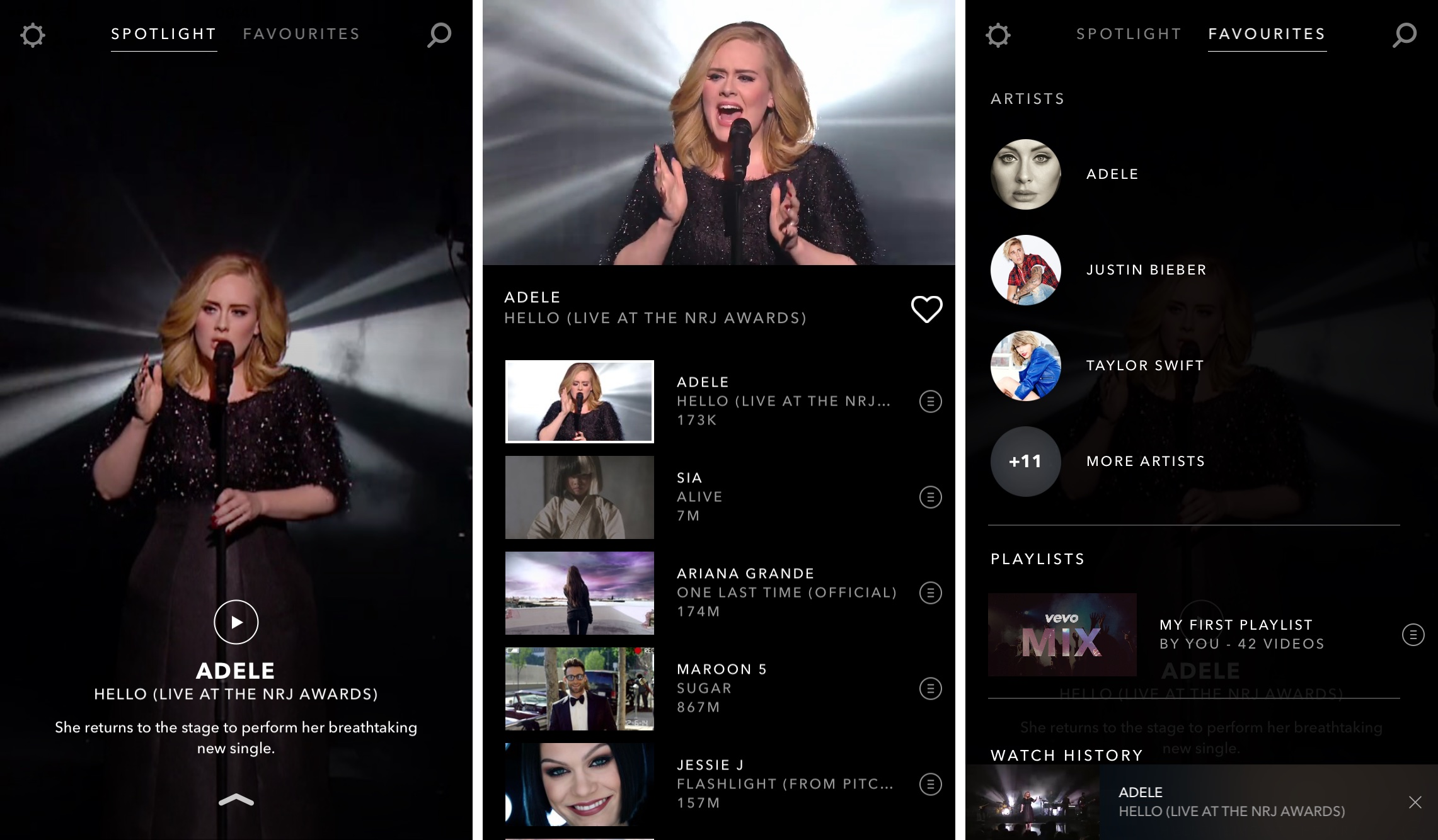 Vevo 5.0 for iOS iPhone screenshot 002