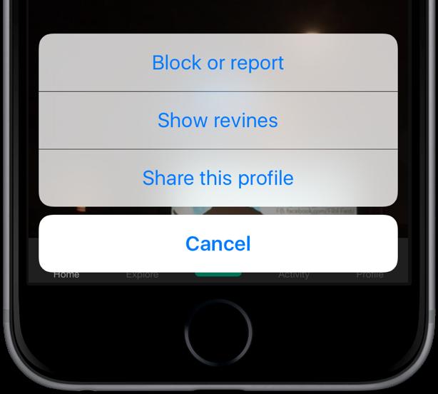 Captura de pantalla 002 de Vine para iOS hide revines