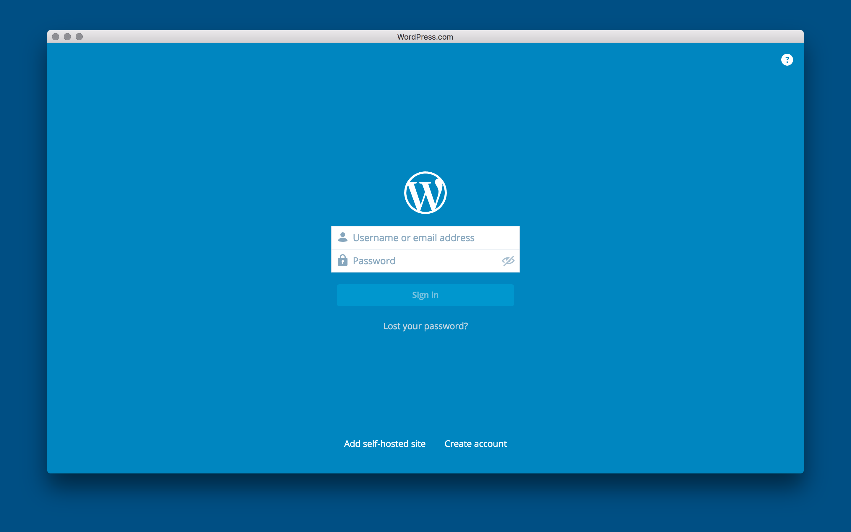 WordPress for OS X 1.0 Mac screenshot 001