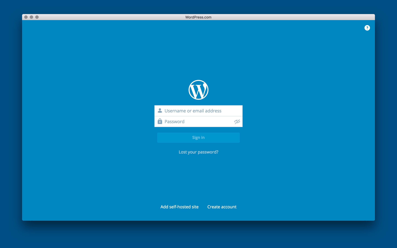 WordPress para OS X 1.0 Mac captura de pantalla 001