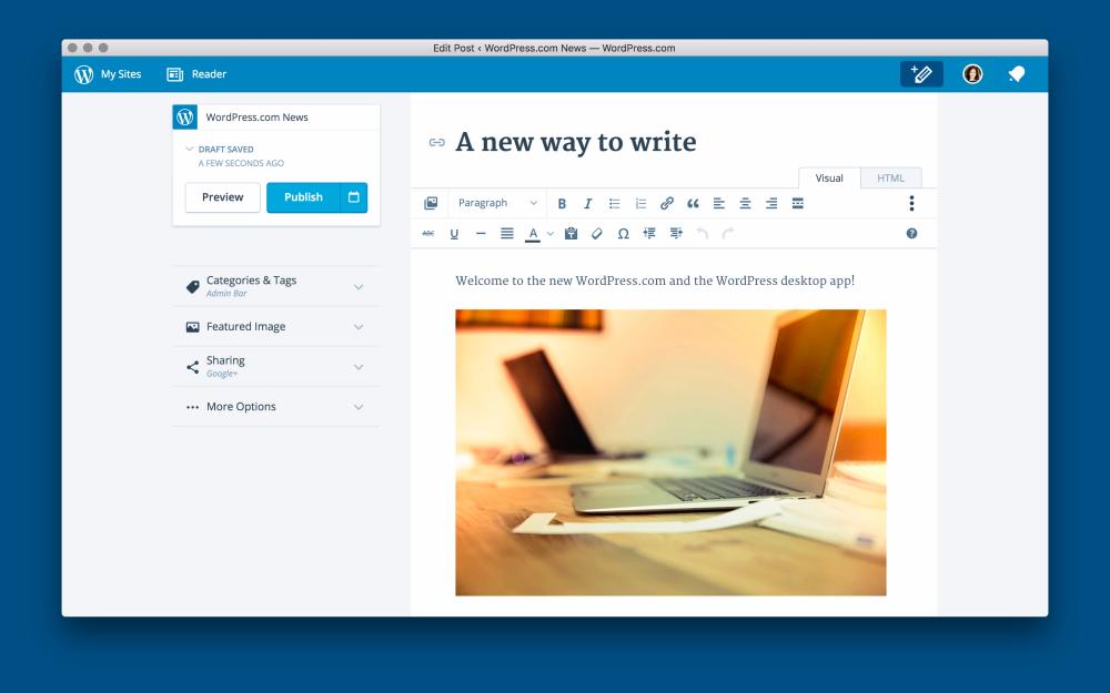 WordPress para OS X 1.0 Mac captura de pantalla 002