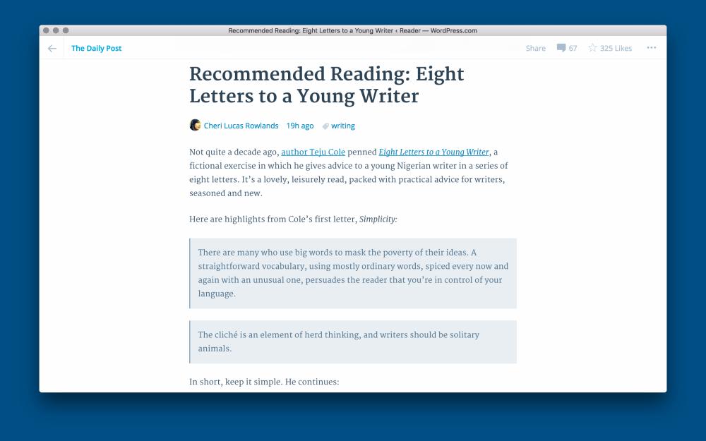 WordPress para OS X 1.0 Mac captura de pantalla 003