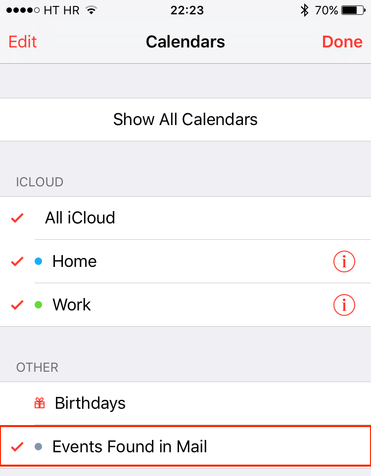 iOS 9 Calendar suggested events iPhone screenshot 004