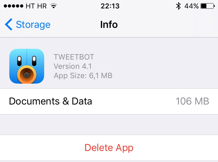 iOS 9 Manage Storage iPhone screenshot 003
