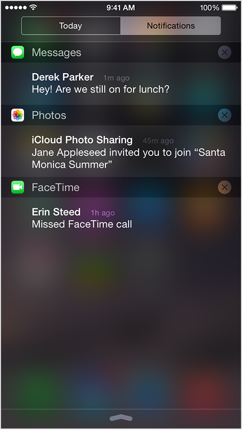 iOS 9 Settings Notifications Group by App iPhone screenshot 004