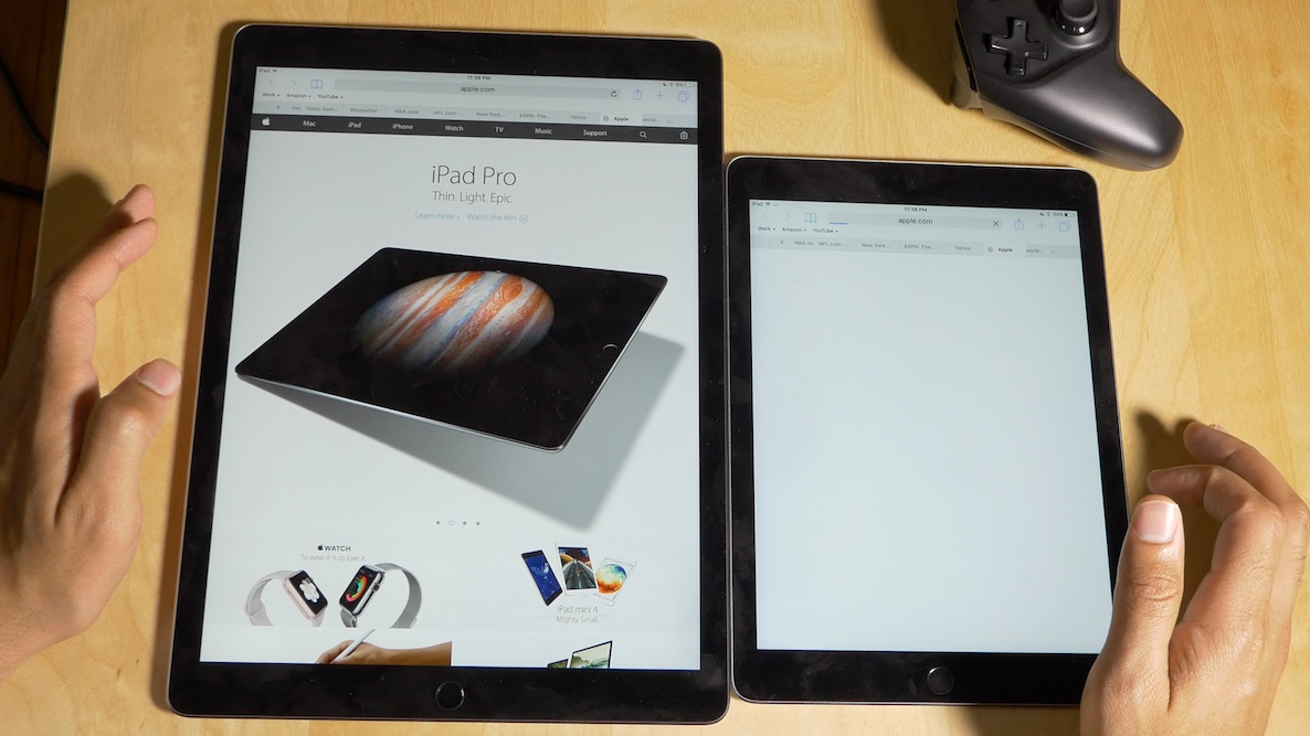 iPad Pro vs iPad Air 2 RAM test