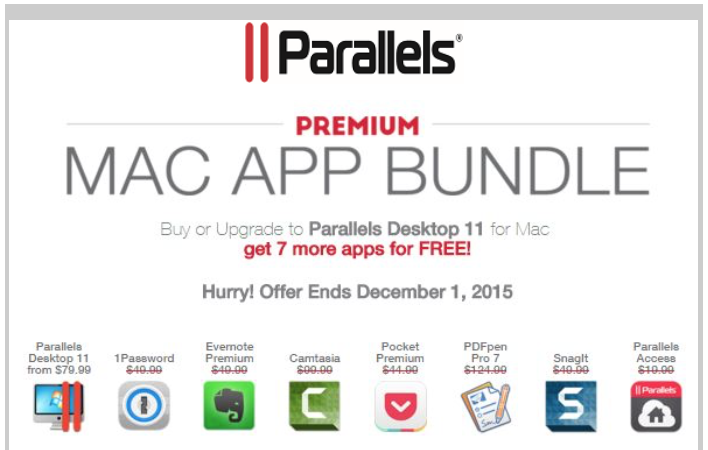 Great deal: Mac app bundle with Parallels 11, 1Password and