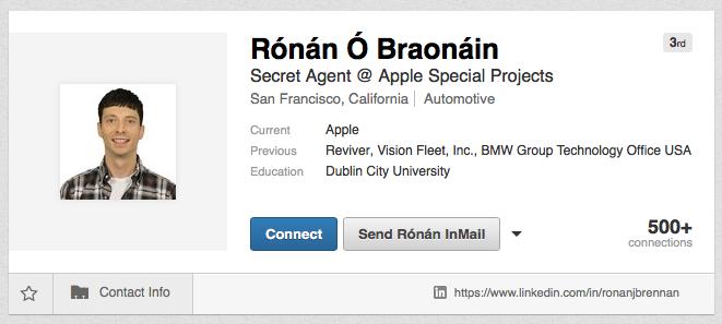 ronan apple car