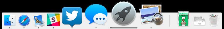 stuck progress bar below LaunchPad icon
