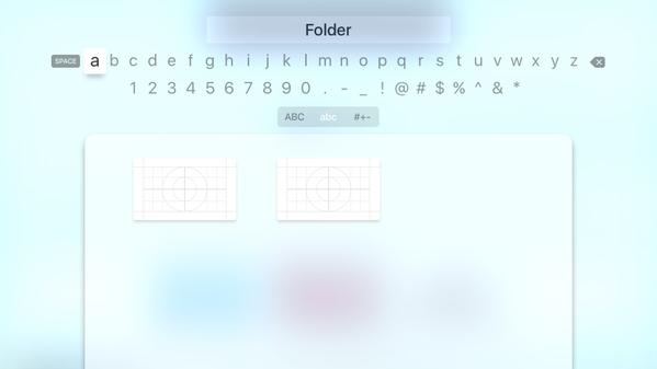 tvOS Folder