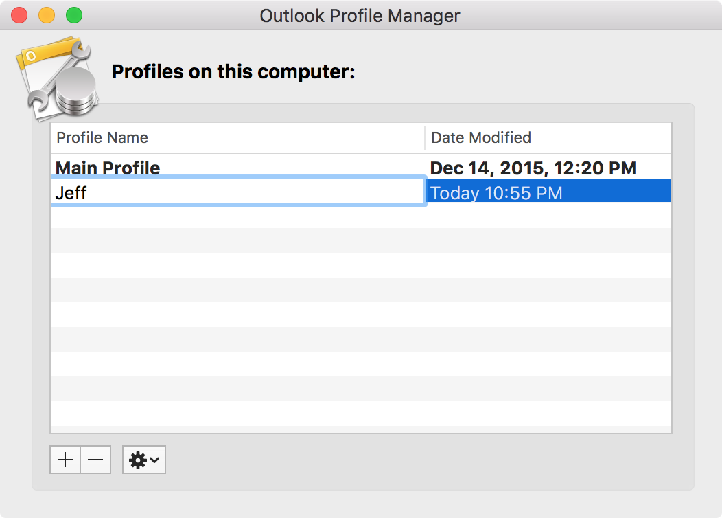 Add New Profile Outlook