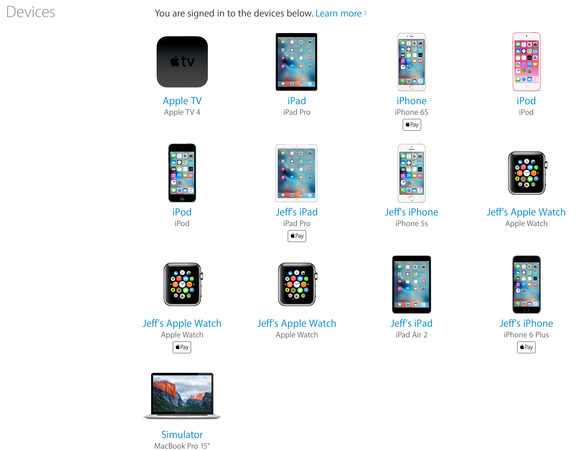 Apple ID Devices