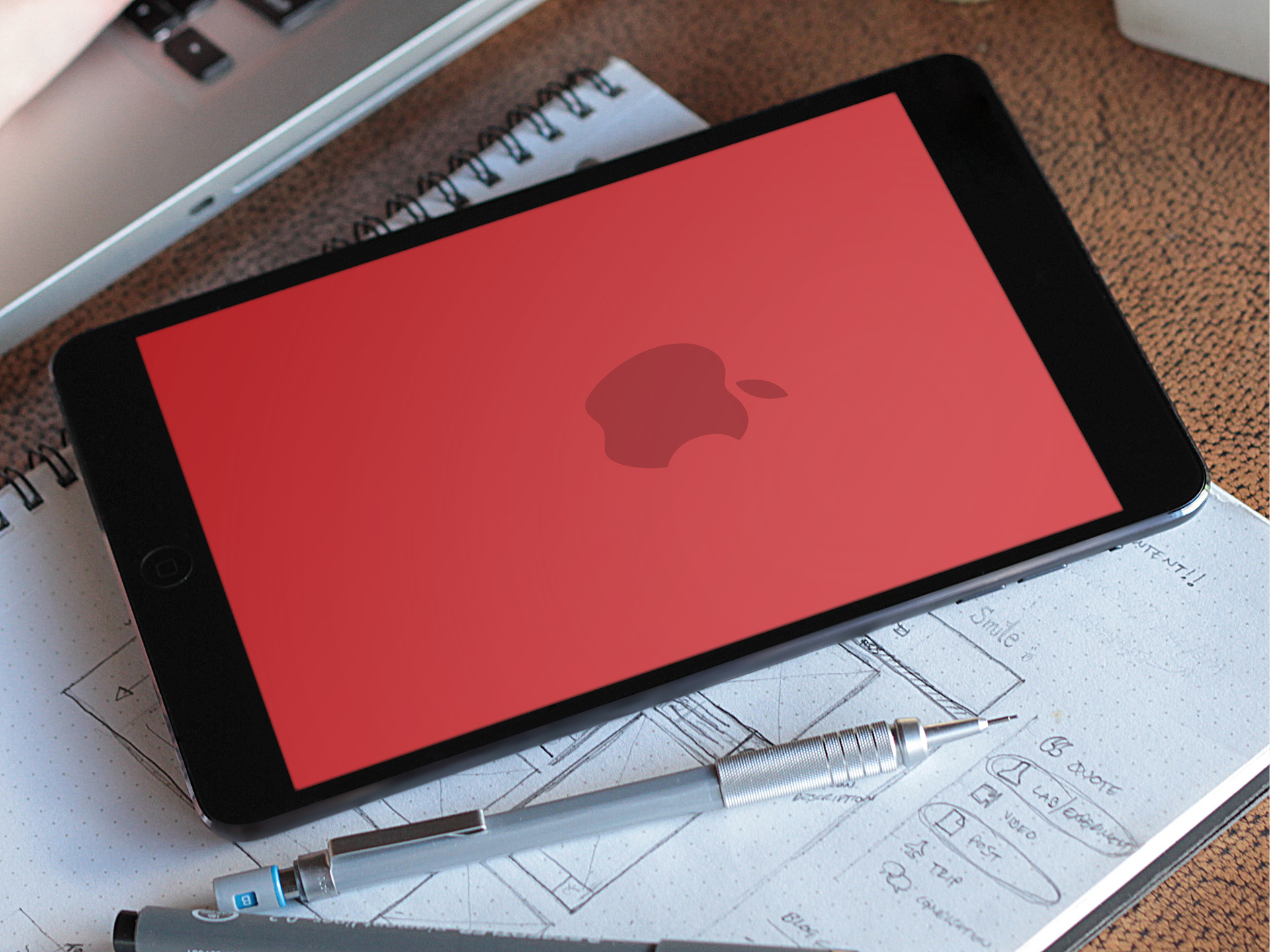 Apple RED Product Wallpaper Splash Axinen