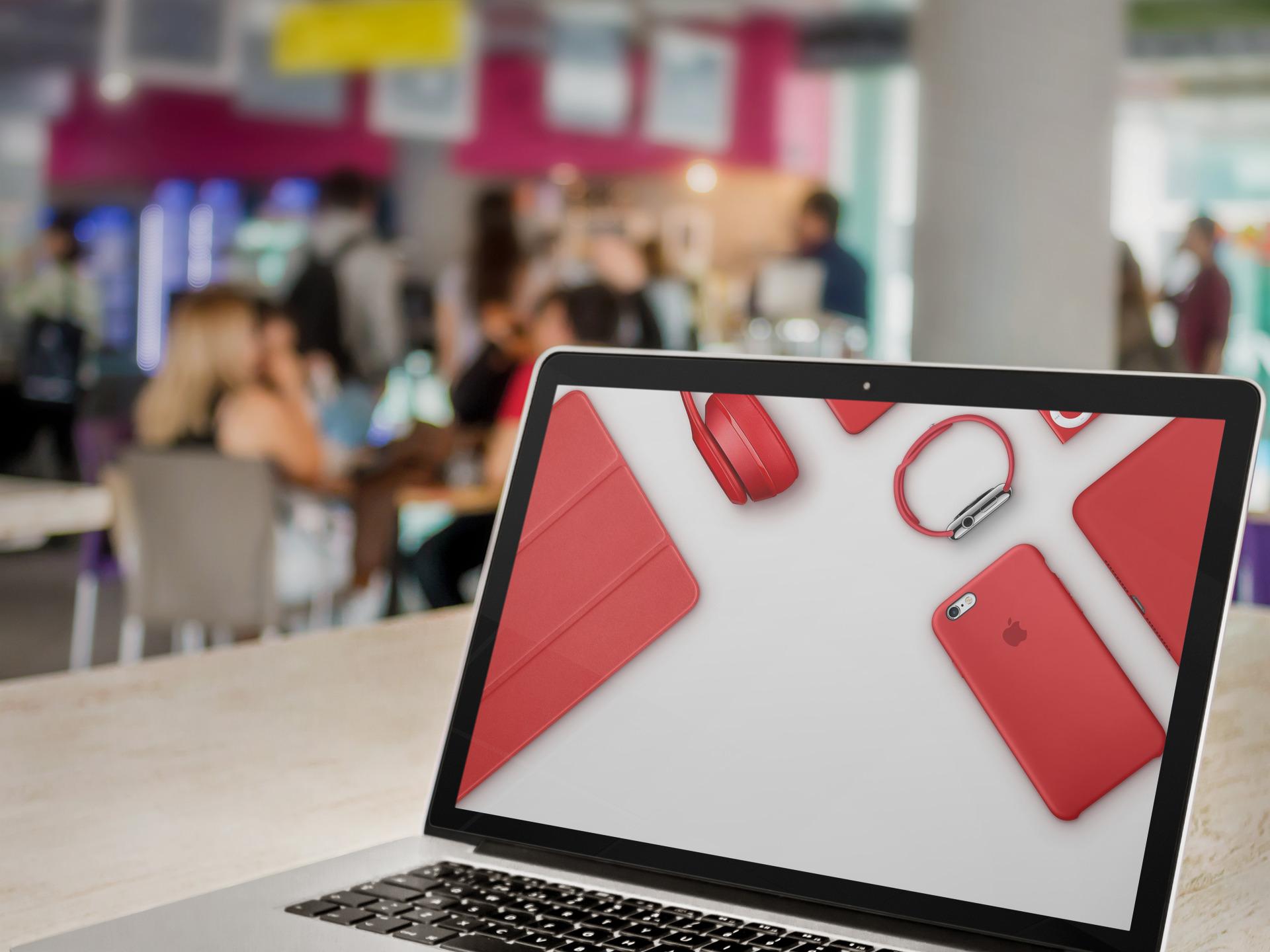 Apple Red products splash hero banner