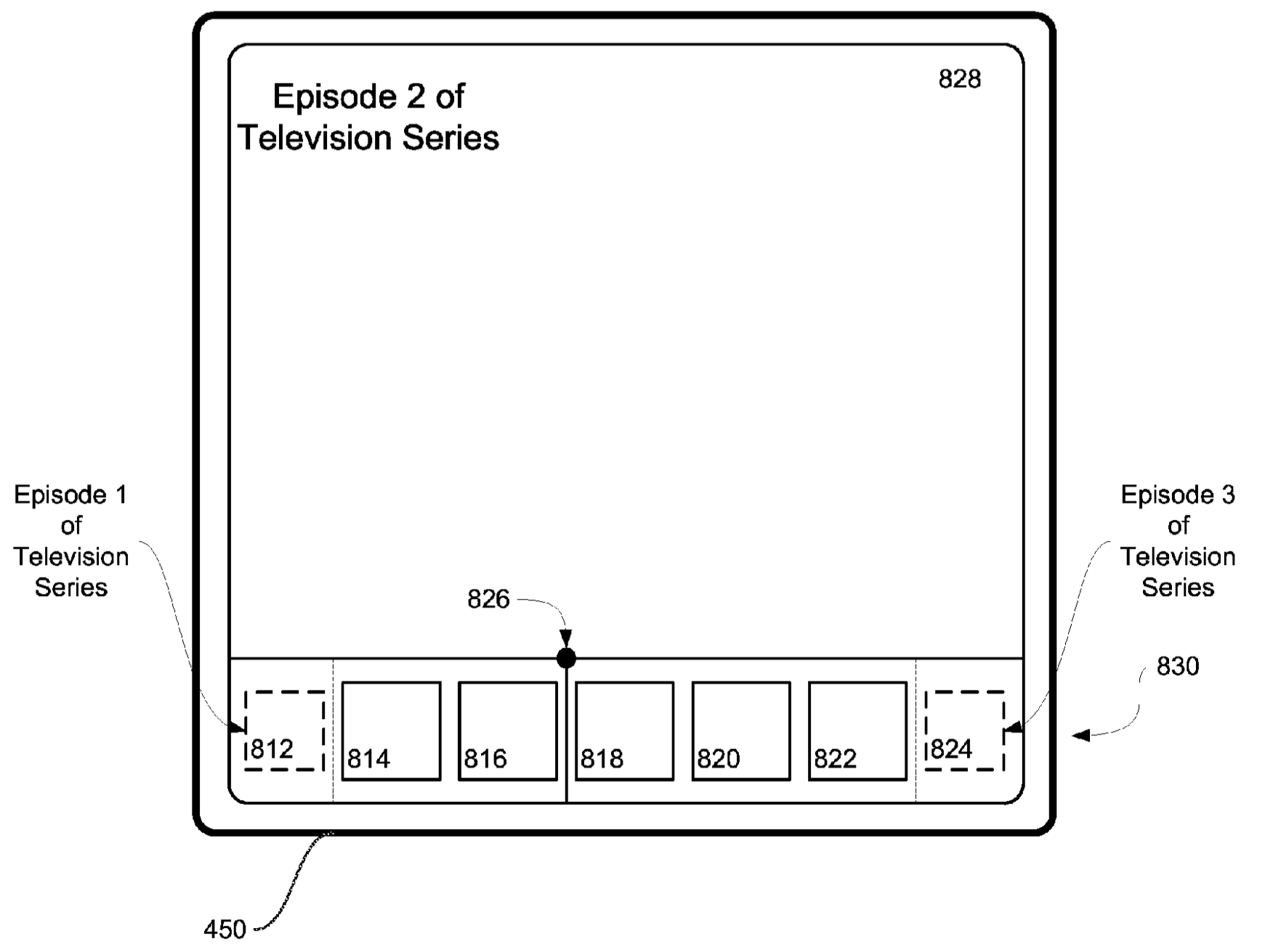 Apple TV patent changing channels drawing 001